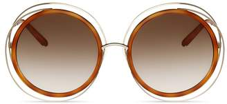 Chloé Carlina Oversized Round Sunglasses, 58mm