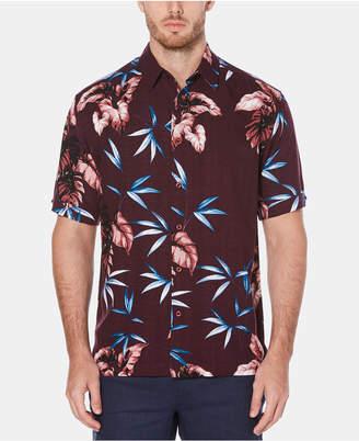 Cubavera Men's Tropical Leaf Short-Sleeve Shirt