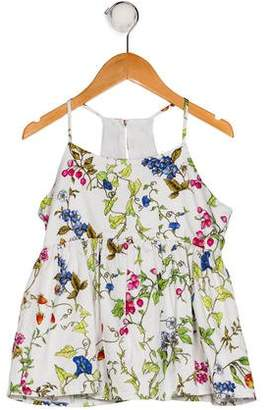 Milly Minis Girls' Sleeveless Floral Print Top