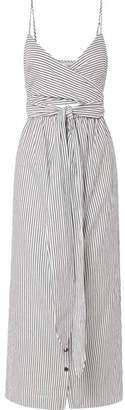 Mara Hoffman Thora Striped Organic Cotton Midi Dress - Gray