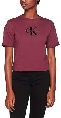 Calvin Klein Jeans Women's Teco-11 True Icon Cn T-Shirt, (Ck Black), X