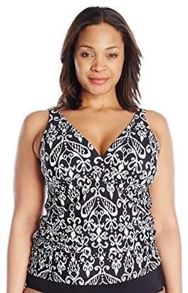 Athena Women's Plus-Size Halter Tankini Top
