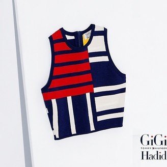 Viscose Patchwork Top Gigi Hadid $99.50 thestylecure.com