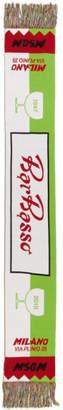 MSGM Green Long Bar Basso Scarf