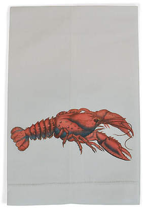 Lobster Guest Towel - White - The French Bee