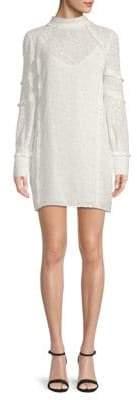 IRO Mijo Ruffled & Textured Sheer Dress