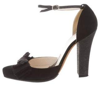 Alessandro Dell'Acqua Bow-Accented Pointed-Toe Pumps