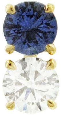 Raphaele Canot Confetti Blue Sapphire and Diamond Stud Earring