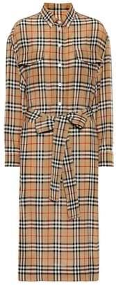 Burberry Check silk shirt dress