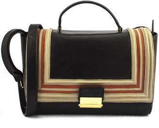 Dries Van Noten Black And Beige Shoulder Bag .