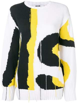 MSGM relaxed knitted sweater