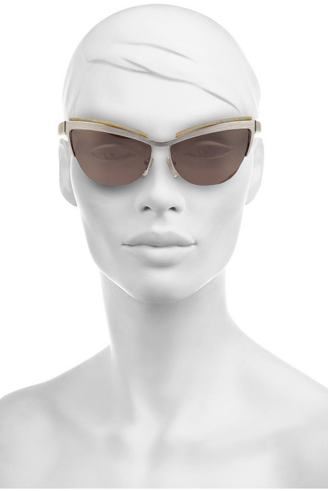 Prism Berlin cat eye metal and acetate sunglasses