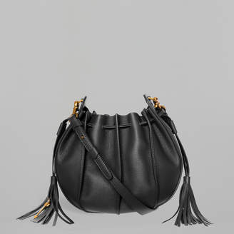 Mackage KASE-M Leather and suede mini crossbody bucket bag