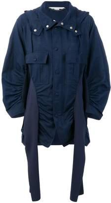 ruched parka jacket