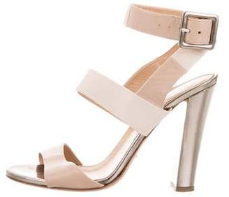 Sergio Rossi Leather Ankle Strap Sandals