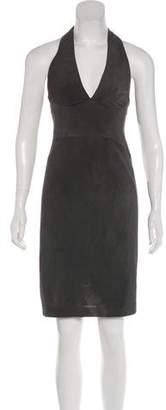 Zac Posen Halter Knee-Length Dress