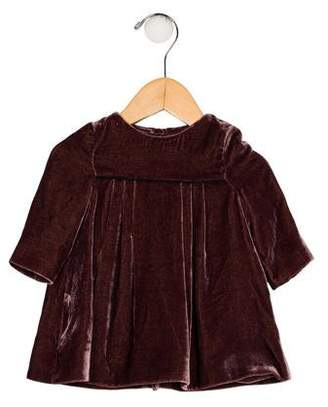 Burberry Girls' Velvet Pleated Dress