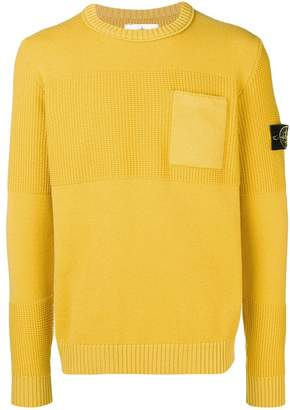 Stone Island chest pocket knitted jumper