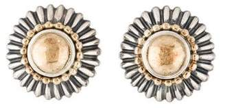Lagos Two-Tone Earclip Earrings