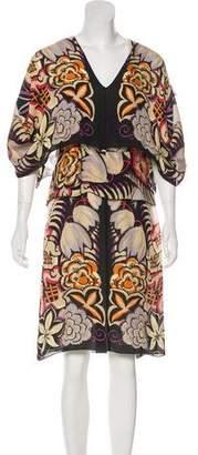 Etro Silk Floral Print Dress w/ Tags