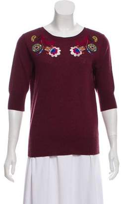 Etro Embroidered Long Sleeve Sweater