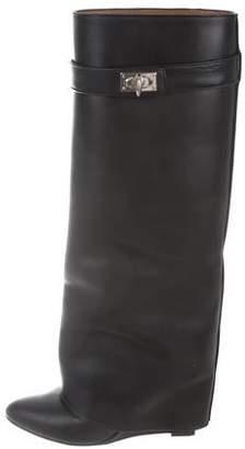 Givenchy Shark Lock Fold-Over Boots