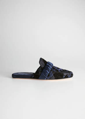 And other stories Metallic Jacquard Indoor Slippers