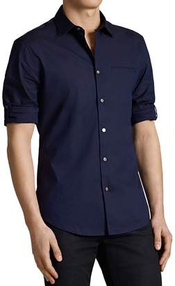John Varvatos Collection Rolled Sleeve Slim Fit Button-Down Shirt