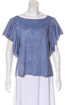 LoveShackFancy Printed Short Sleeve Top w/ Tags