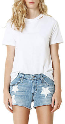James Jeans Baggy Beau Boyfriend Shorts w/ Stars
