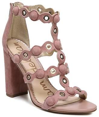 Sam Edelman Women's Yuli Suede Grommet Block Heel Sandals