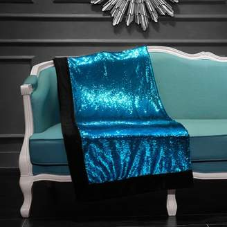 Mainstays Turquoise Reversible Mermaid Sequin Throw