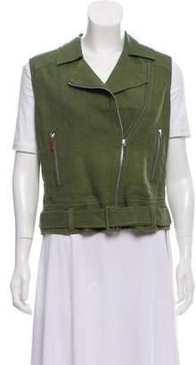 Elizabeth and James Linen Notch-Lapel Vest w/ Tags
