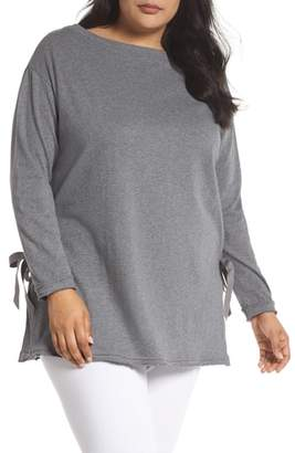Caslon Side Tie Cotton Tunic Top