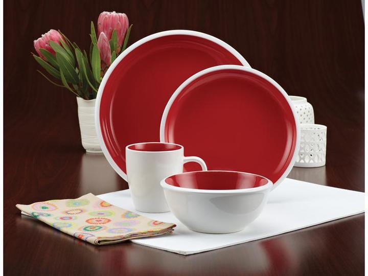 Rachael Ray 16-pc. Rise Dinnerware Set, Red