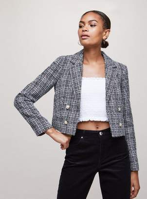 Miss Selfridge Black boucle jacket