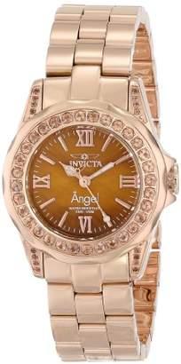 Invicta Women's 15051 Angel Analog Display Swiss Quartz Rose Gold Watch