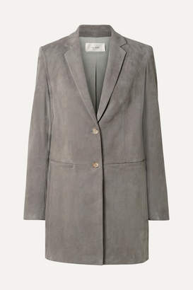 The Row Batilda Oversized Suede Jacket - Gray