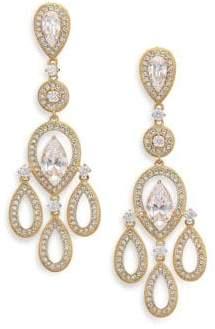 Bridal chandelier earrings shopstyle adriana orsini pave pear chandelier earringsgoldtone aloadofball Image collections