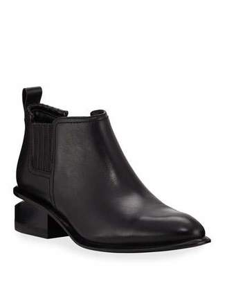 Alexander Wang Kori Low-Heel Leather/Suede Booties
