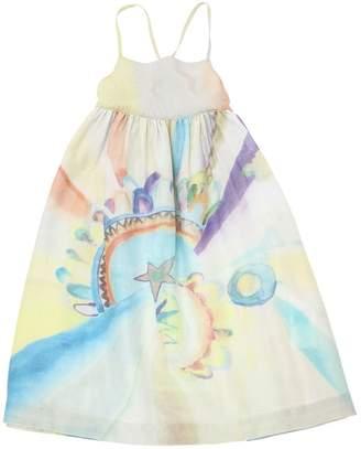 Stella McCartney Rainbow Print Cotton & Silk Dress