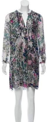 Diane von Furstenberg Print Shift Mini Dress