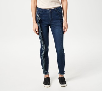 Women With Control Women with Control My Wonder Denim Regular Jeans w/ Fray Detail