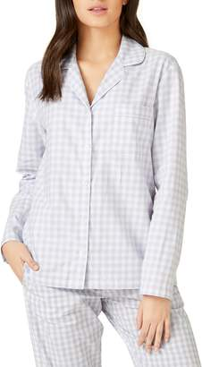 The White Company Cotton Flannel Pajama Top