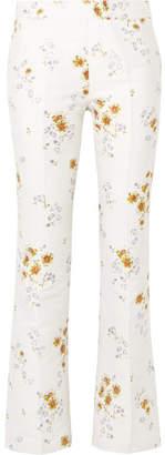 Giambattista Valli Floral-jacquard Straight-leg Pants - Ivory