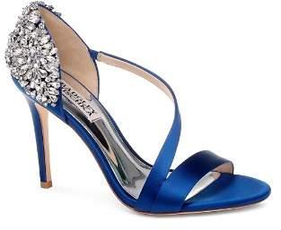 Badgley Mischka Women's Pauline Embellished Satin Crossover High-Heel Sandals