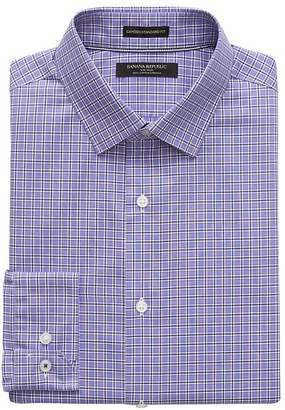 Banana Republic Camden Standard-Fit Non-Iron Grid Dress Shirt