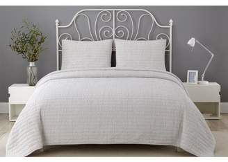 Queen Claret Wonder Home Lawrence 3PC Crinkle Solid Quilt Set, Queen, Claret