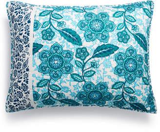 Jessica Simpson Aqua Flora Cotton Quilted Standard Sham