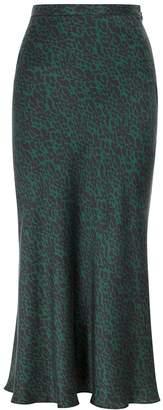 Bec & Bridge Animale Fever Leopard-print Silk Midi Skirt